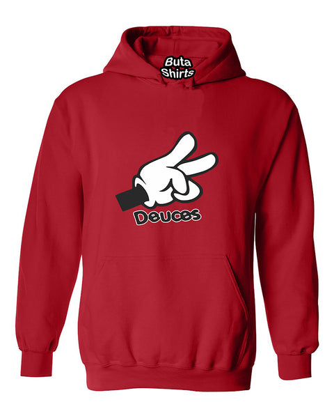 Cartoon Hands Deuces Funny Fashion Unisex Hoodie