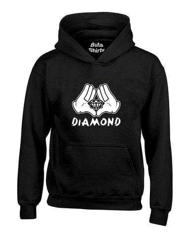 Cartoon Hands Diamond fashion Cute  Unisex Hoodie