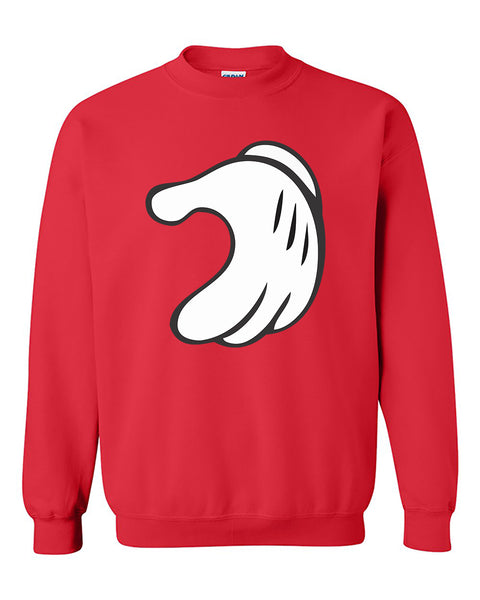 Mickey Hands Half Heart Right Couples Valentine's Day Gift Crewneck Sweater