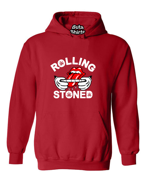 Rolling Stoned 420 Marijuana Joint Smokers Weed Related  Unisex Hoodie