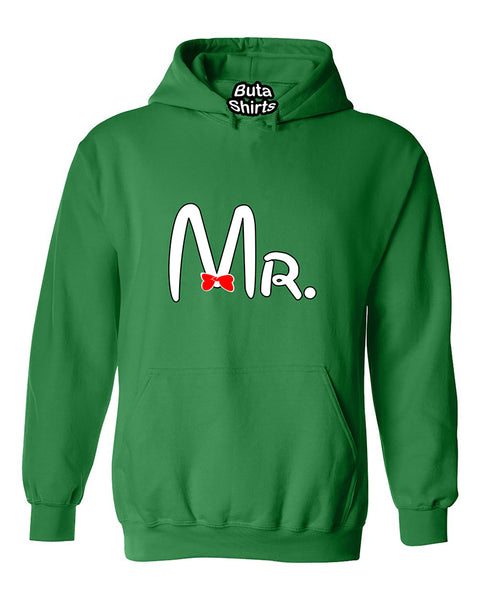 Cartoon Writing Mr Matchig Couples Unisex Hoodie