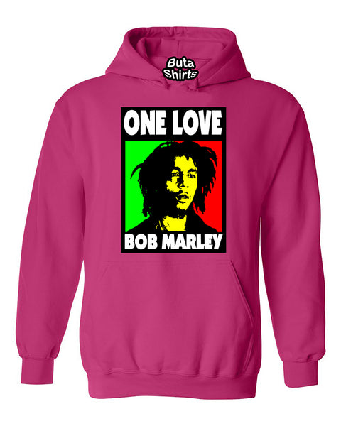 One Love Bob Marley Weed Smokers Unisex Hoodie