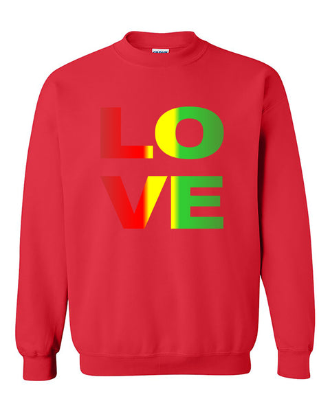 Love Rasta Weed Smokers Crewneck Sweater