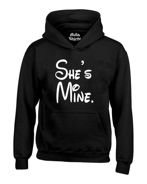 Cartoon Writing She's Mine Couples Matching loves Unisex Hoodie