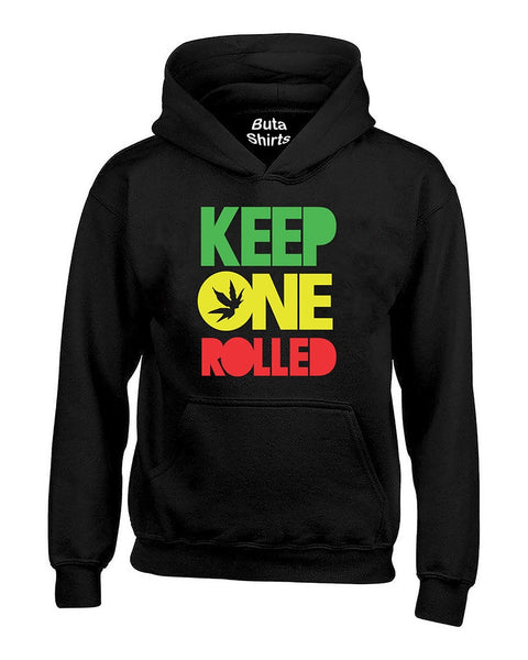 Keep One Rolled Marijuana Weed Smokers Rasta Stoned Unisex Hoodie