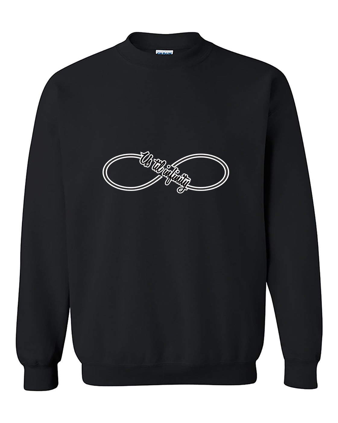 Us till Infinity love Couples Valentine's Day Gift Crewneck Sweater