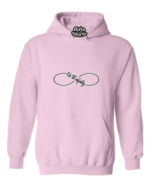 Us till Infinity love Couples Valentine's Day Gift Unisex Hoodie