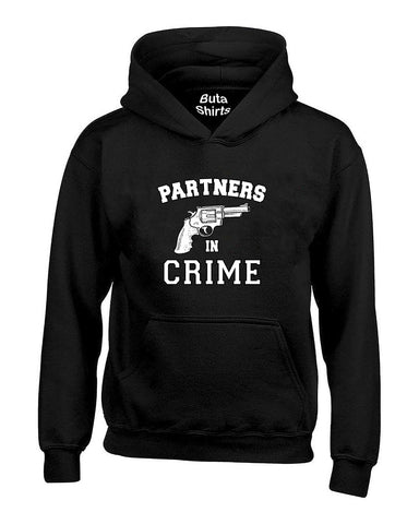 Partners in Crime Left Couples Valentine's Day Gift Unisex Hoodie