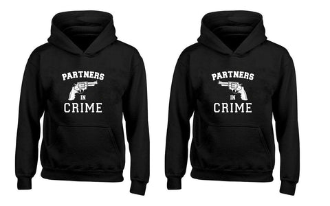Partners in Crime Couples Unisex Hoodies