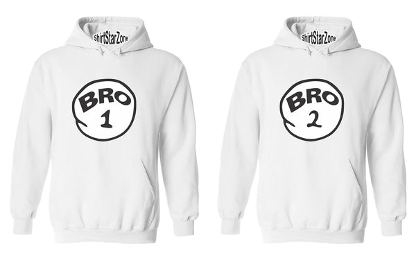 Bro 1 and Bro 2 One Funny humours Couples Unisex Hoodies
