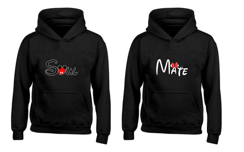 Soul and Mate, Soul-Mate Couples Unisex Hoodies