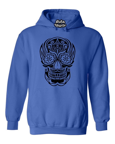 Black B Skull Day of dead Fashion Unisex Hoodie