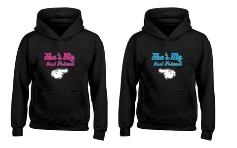 She's My Best Friend BFFs Cute Fashion Couples Unisex Hoodies