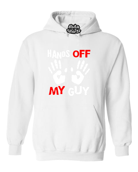 Hands Off My Guy Funny Couples Valentine's Day Gift Unisex Hoodie