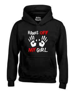 Hands Off My Girl Funny Couples Valentine's Day Gift Unisex Hoodie