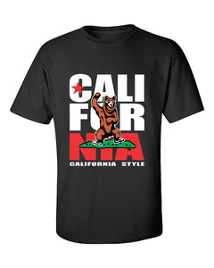 california-gangam-style-bear-flag-pattern-fashion-t-shirt