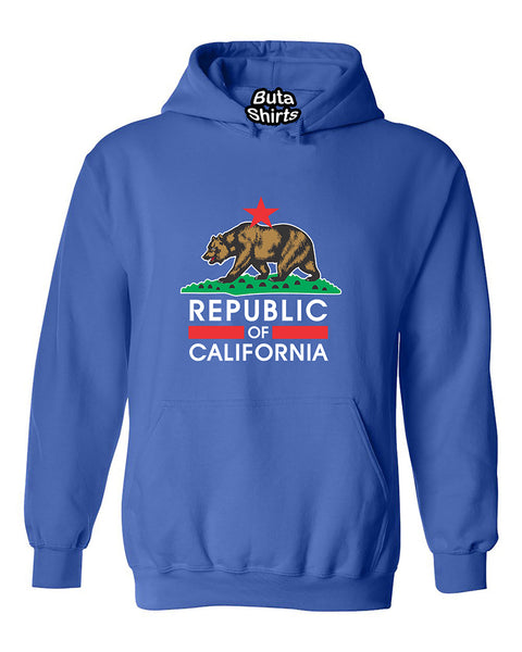 Republic Of California Bear West Coast Cute Fashion Unisex Hoodie
