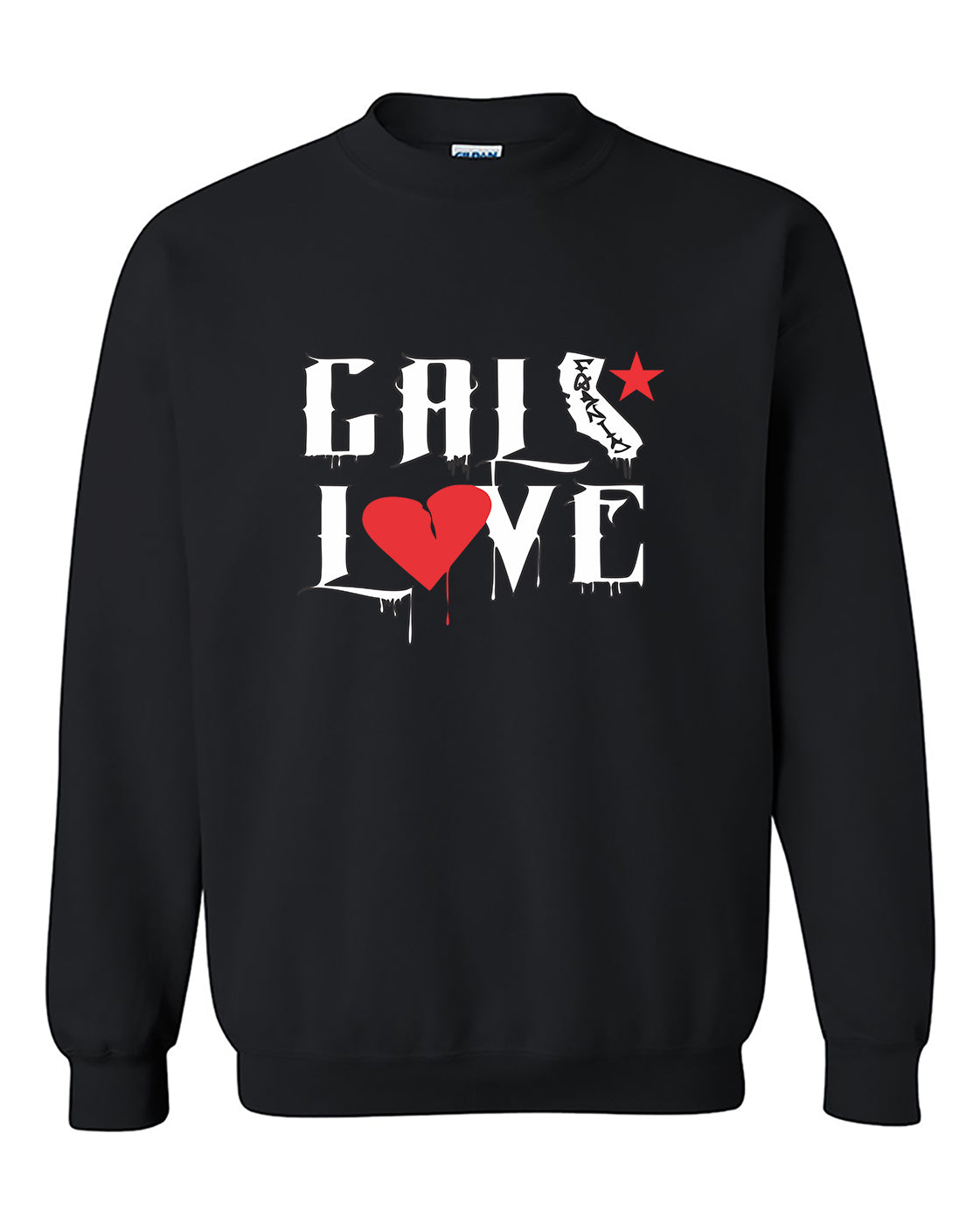 Cali Love California Republic Fashion Crewneck Sweater