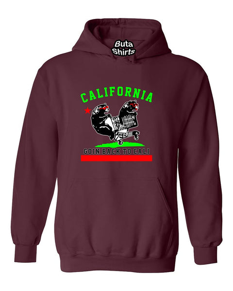 California Bear Goin Back to Cali Funny West Coast Fashion Unisex Hoodie