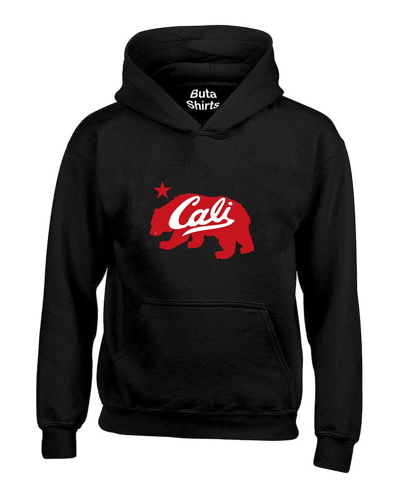 Cali Bear Red Fashion California Republic Unisex Hoodie