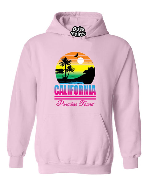 California Beach Sunset Palm trees Paradise Found Cali Sunset Unisex Hoodie