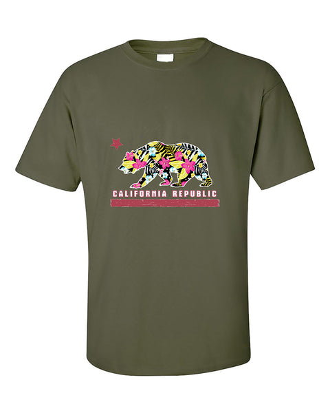 california-republic-bear-floral-pattern-cali-bear-west-coast-cali-life-t-shirt
