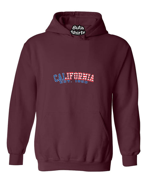 California Republic American Flag Pattern State Flags Native California Unisex Hoodie