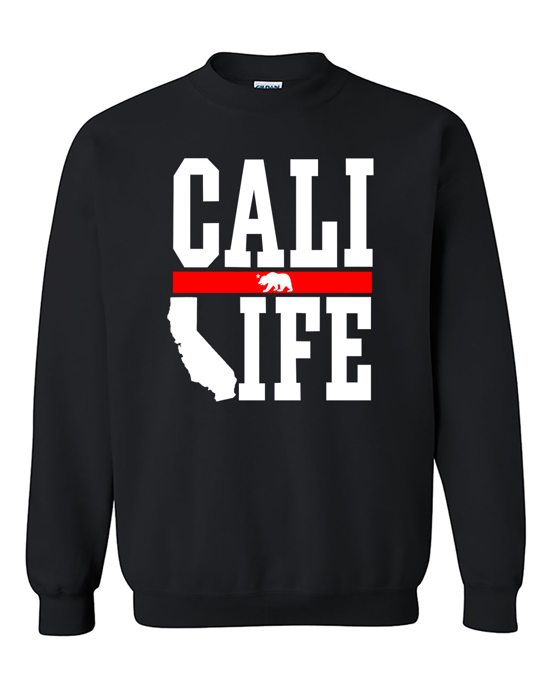 Cali Life Fashion California Republic lifestyle Crewneck Sweater