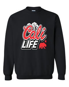 Cali life Mountain and Bear California Republic lifestyle Cali life Crewneck Sweater