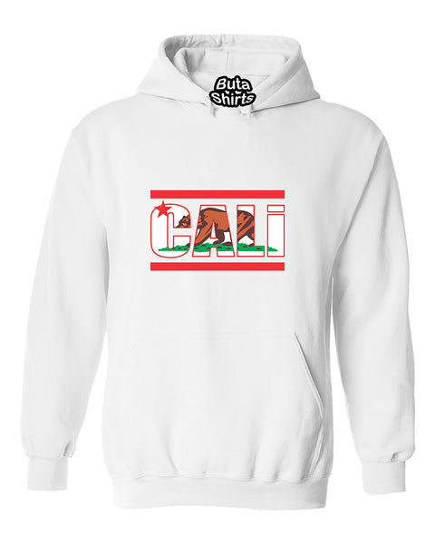 Cali Bear California Republic Flag Pattern West Coast Fashion Unisex Hoodie