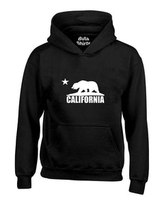 Cali Bear White California Republic West Coast California Unisex Hoodie