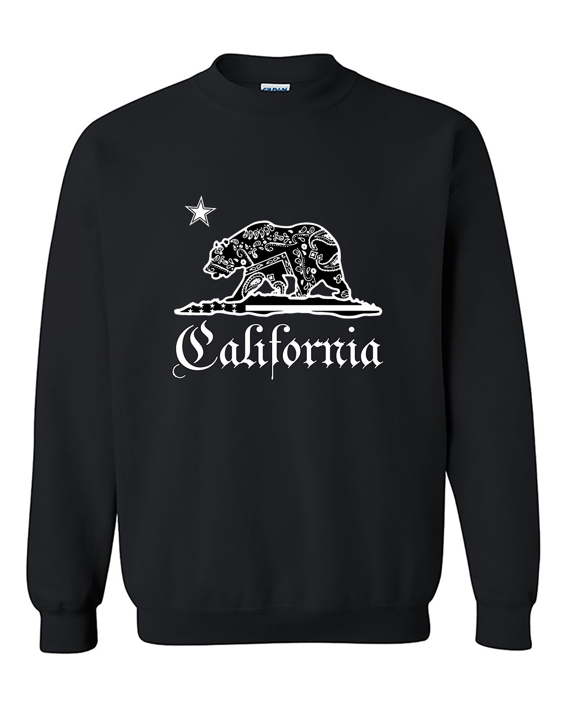 California Bear Bandana Pattern California Republic Thung Crewneck Sweater