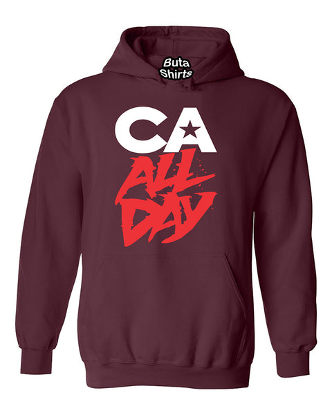 CA All day California Republic Bear West Coast Fashion Unisex Hoodie