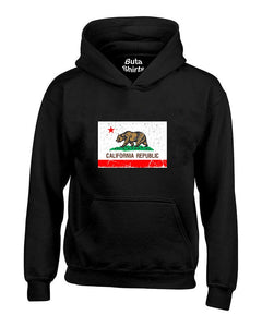 California Flag Vintage California Republic Flag Cali Bear West Coast Unisex Hoodie