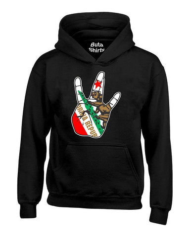 Cali Hand West Coast California Republic Bear Fashion Unisex Hoodie