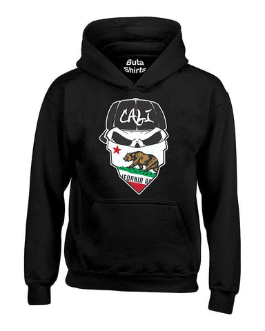Skull Cali Bandana Cali Life California Republic Bear West Coast Unisex Hoodie