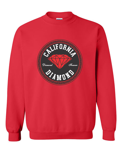 California Red Diamond Diamond State California Republic West Coast Crewneck Sweater