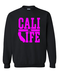 Cali Life Pink California Republic Bear West Coast lifestyle Fashion Crewneck Sweater