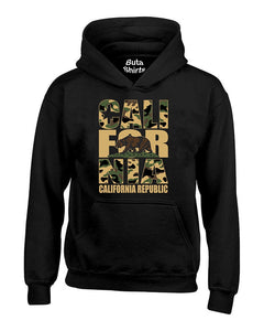 California Republic Camoflag Cali Bear West Coast Unisex Hoodie