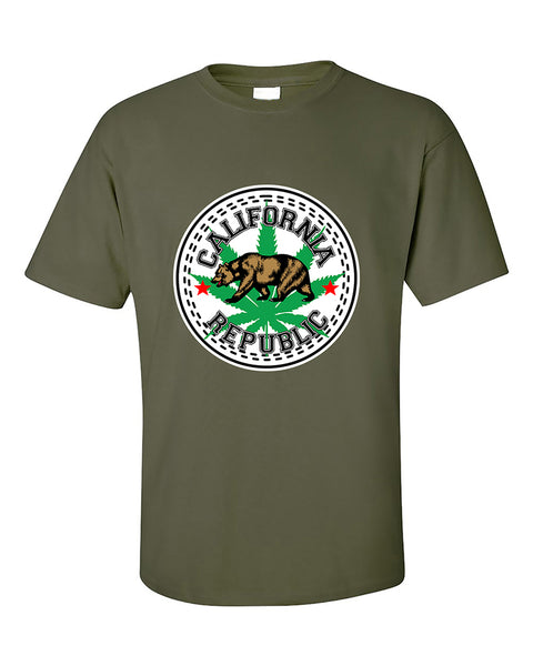 california-weed-republic-bear-420-weed-smokers-dope-stoned-pot-leaf-t-shirt