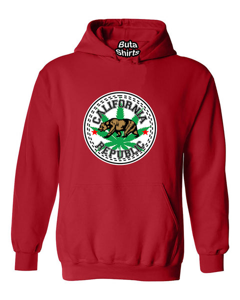 California Republic Bear 420 Weed Unisex Hoodie