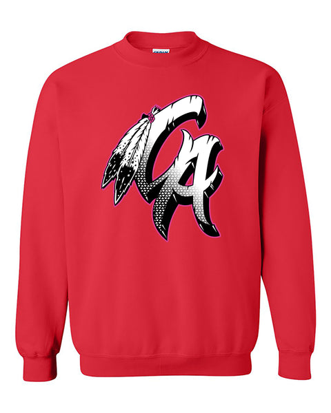 CA Feather California Republic Indian Native American Patriotic Crewneck Sweater