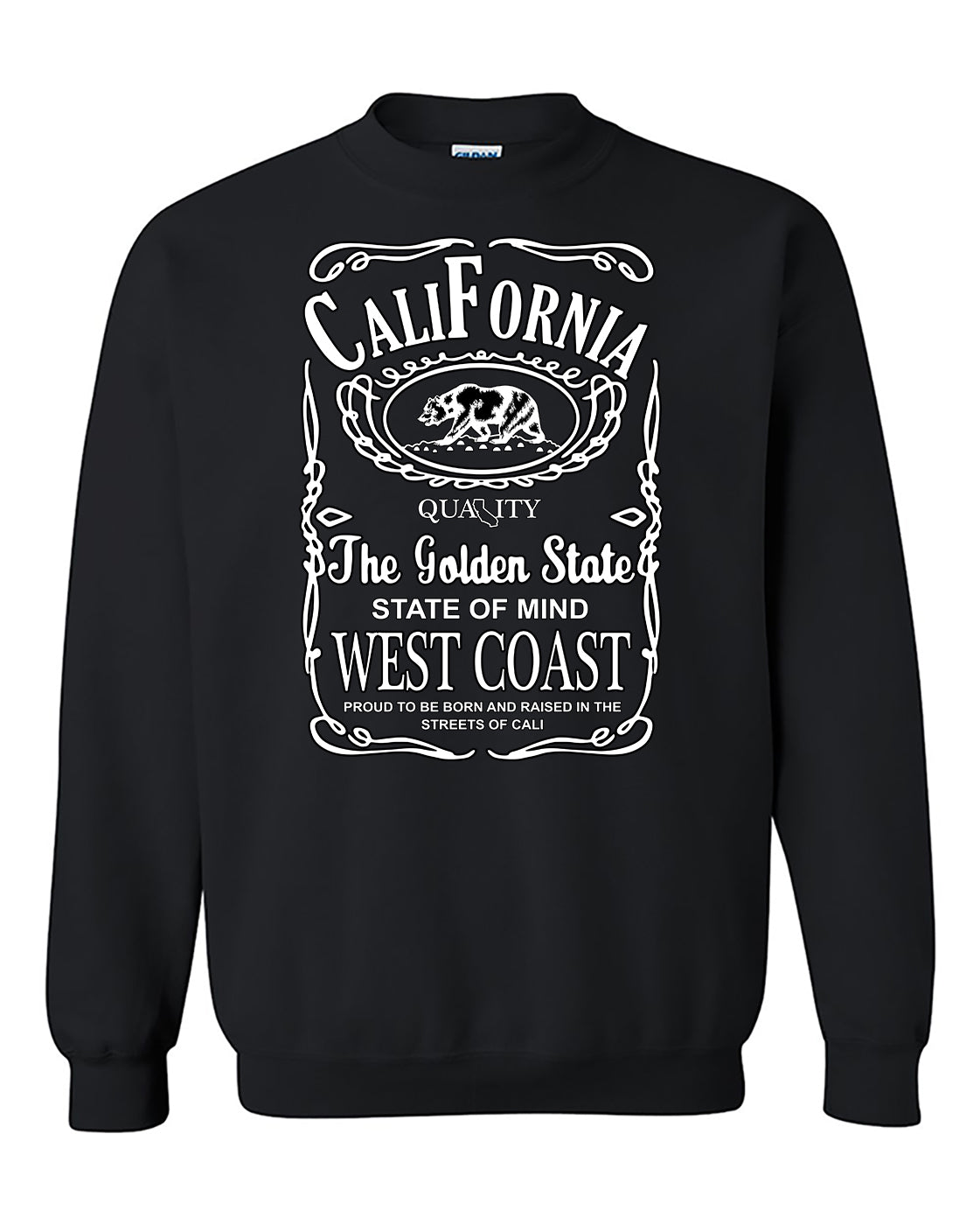 Caliifornia Republic Bear The Golden State West Coast Cali life Crewneck Sweater