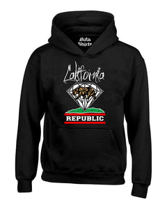 California Republic Diamond Cali Bears Unisex Hoodie