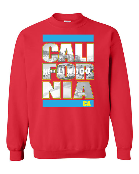California Republic Hollywood Beach Surfing West Coast Fashion Crewneck Sweater