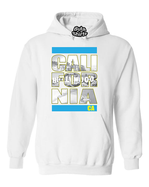 California Republic Hollywood Beach Surfing Fashion Unisex Hoodie