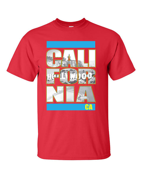 california-republic-hollywood-beach-surfing-west-coast-fashion-t-shirt