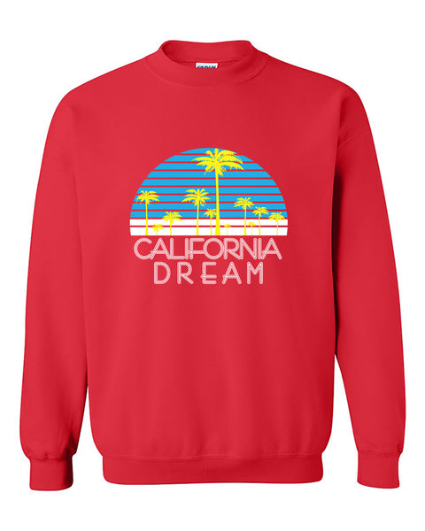 California Dream Palms Cali Republic West Coast Fashion Crewneck Sweater