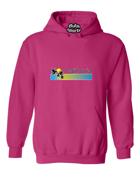 California Palm Trees Sunset Paradise Cali Life West Coast Unisex Hoodie