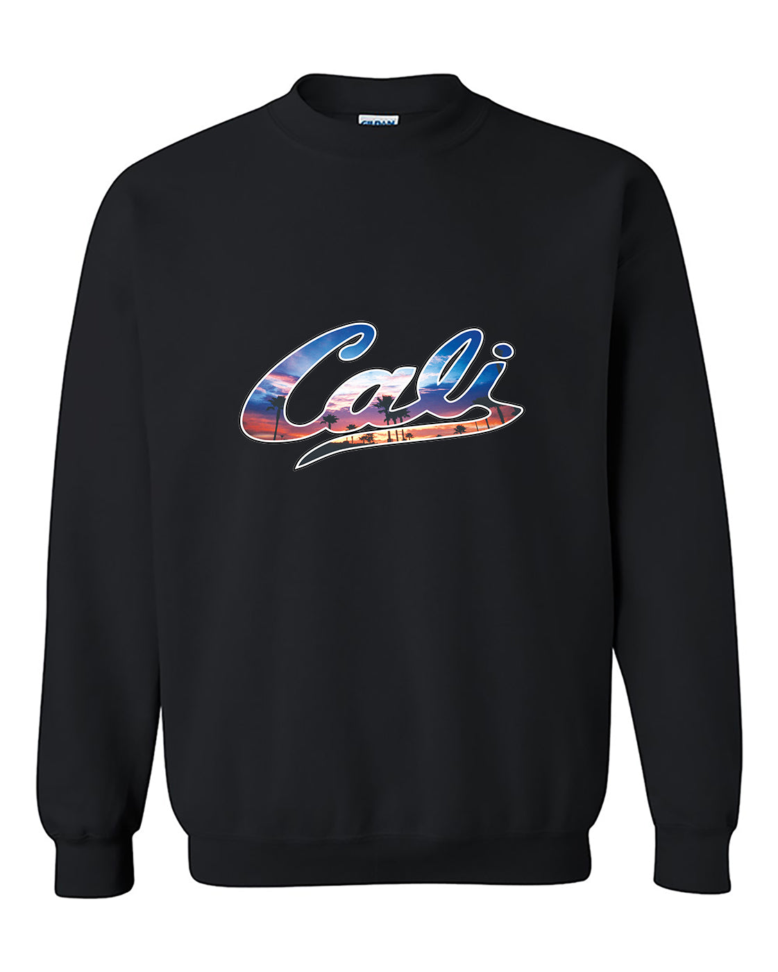 Cali Palm Trees Sunset Pattern Cali Life West Coast California Crewneck Sweater
